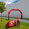 Inflatable Arch incl. 10 ropes & spikes for securing
